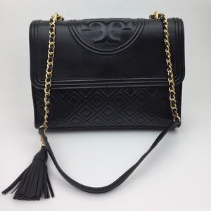 TORY BURCH Fleming Quilted Lambskin Shoulder Bag